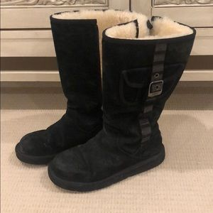 Black Uggs with buckle